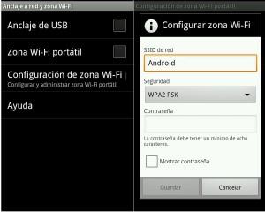 Como compartir tu conexión en Android 2.2 o superior