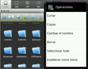 Aplicación para explorar archivos locales y remotos en Android.