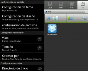 App explorador de archivos para Android
