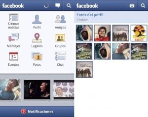 Aplicacion oficial de Facebook para Android