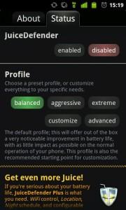 Juice Defender para ahorrar bateria en Android