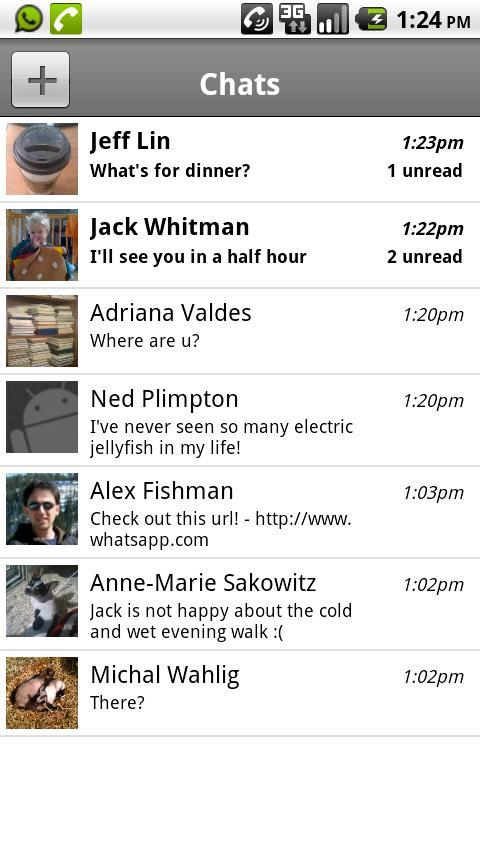 Whatsapp para Android, iPhone, Symbian, Blackberry y Windows Phone