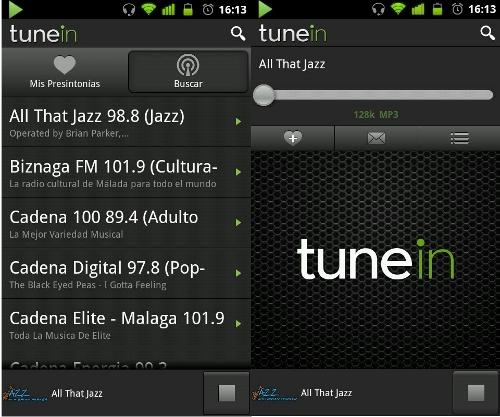 Tune IN, app para escuchar la radio