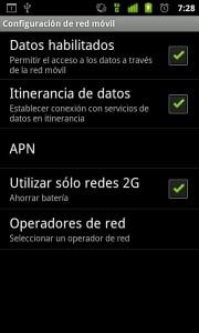 Deshabilitar trafico de datos en Android