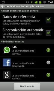 Deshabilitar sincronización de aplicaciones en Android