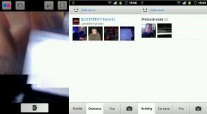 App de Flickr para Android.