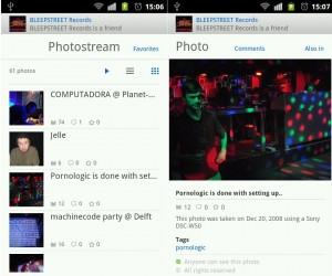 Timeline de Flickr en Android