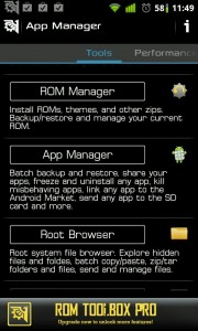 Rom Tool Box para ANdroid. App imprescindible