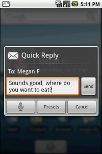 Sms pop up para ANdroid