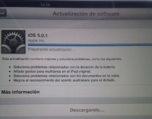 Actualización sin cables en iOS5