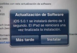 Actualización OTA IOS5.0.1