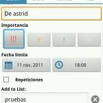 Gestionar prioridad de tareas en Astrid para Android