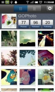 GoPhoto alternativa a Instagram en Android