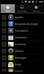 Quarantine, app para android