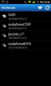 WlanAudit Wifi por defecto en Android