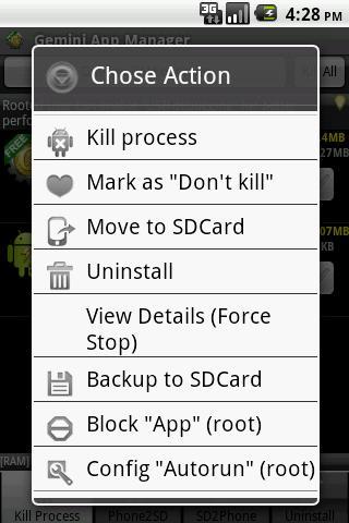 Administrar apps en Android