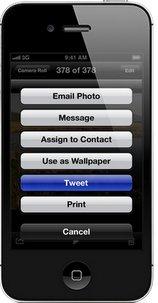 Compartir en Twitter integrado en iOS