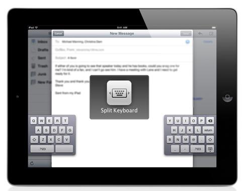 Teclado dividido en iOS5