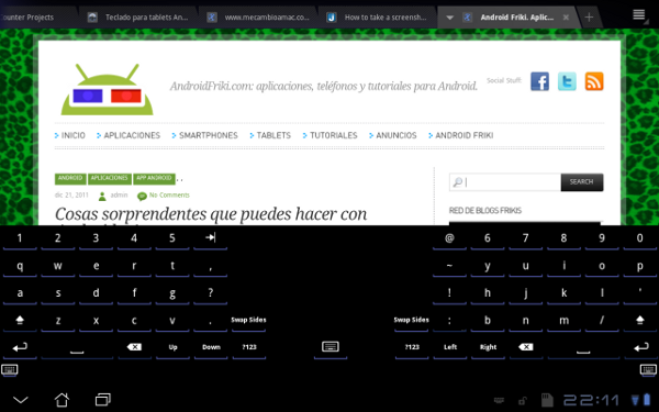 Open Split Keyboar para Android.