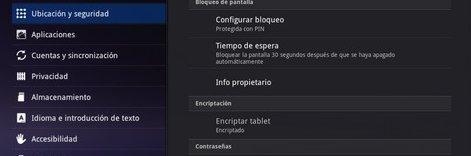 Cómo encriptar tablet, ics y honeycomb