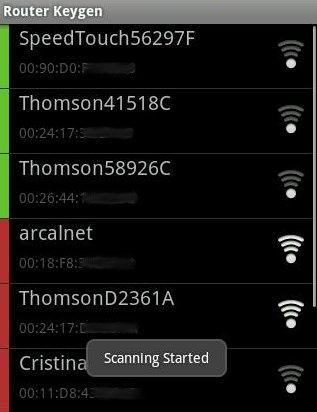 Claves WPA y WEP en Android