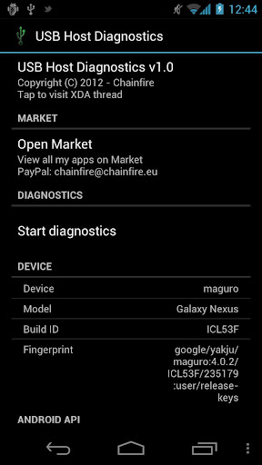 Diagnostico USB OTG