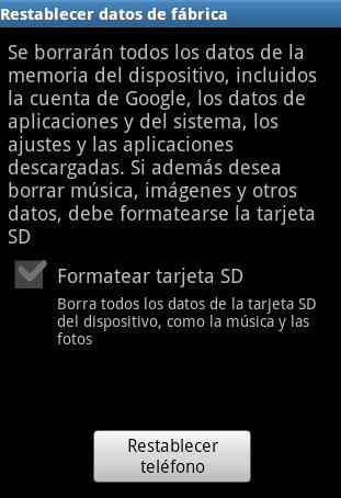 Formatear tarjeta SD