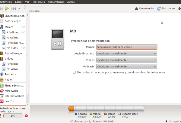Sincronizar ubuntu y android