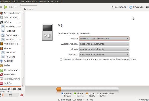 Sincronizar ubuntu y android