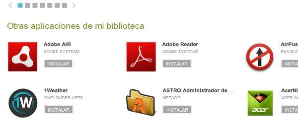 Biblioteca de apps en Google Play