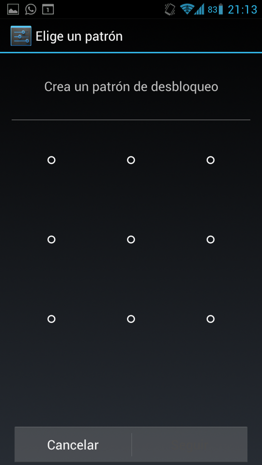 Desbloqueo por patron en Android ICS