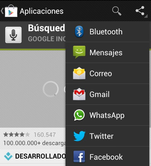 Compartir apps Android