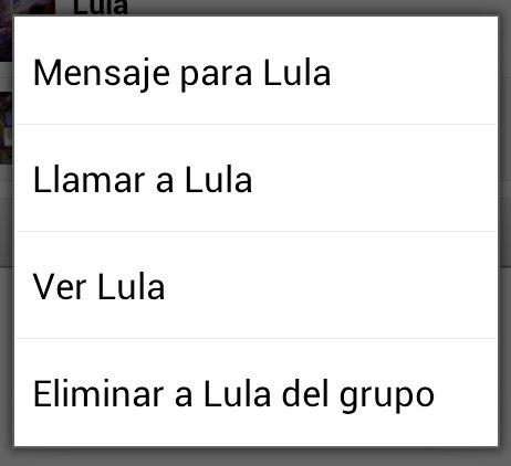 Eliminar miembro de grupo en Whatsapp
