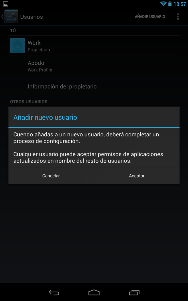 Multiusuario en Jelly Bean