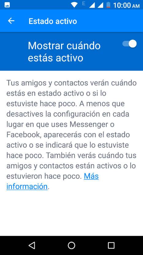 truco para ocultar tu conexión en Facebook Messenger