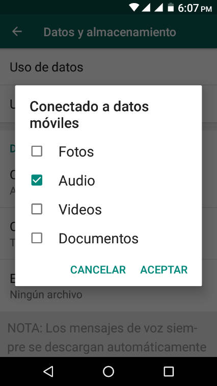 cuantos megas consume whatsapp