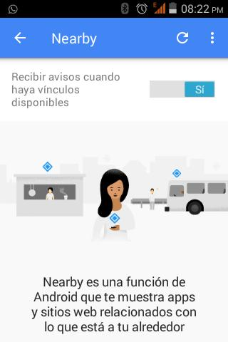 Qué es Google Nearby?