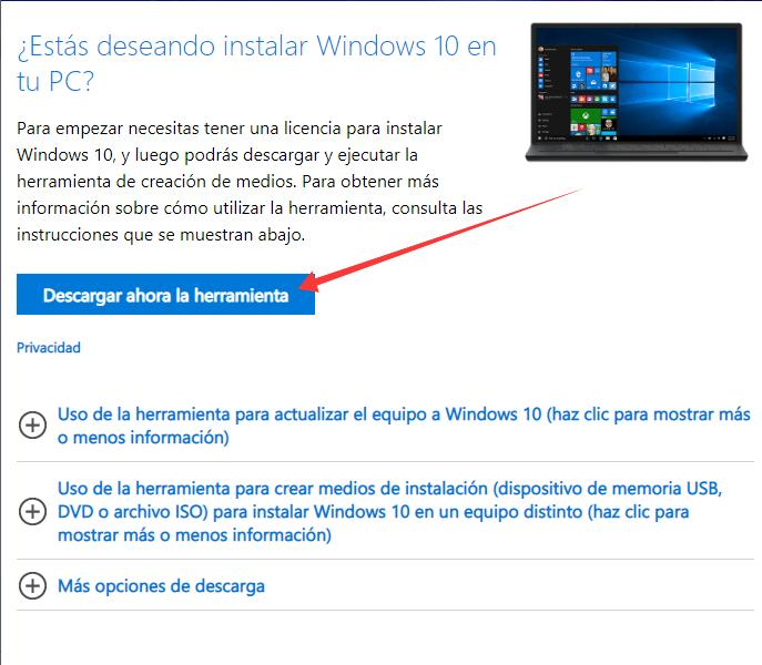 Reparar Windows 10 desde un medio de instalación.