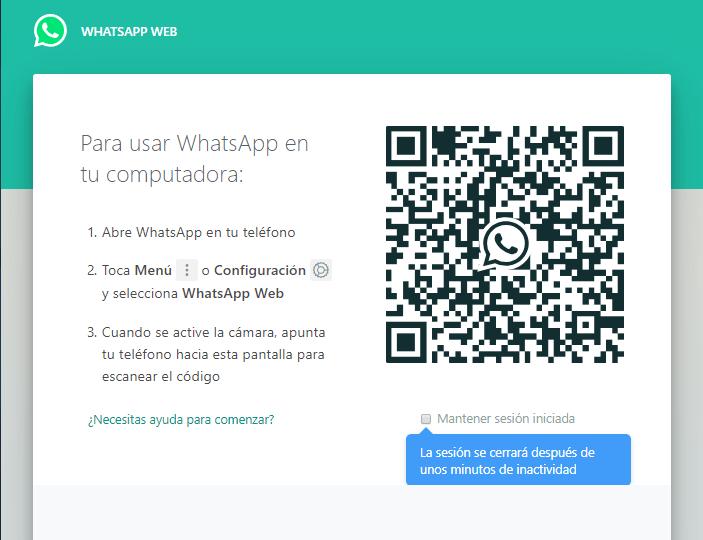 Cómo ingresar a WhatsApp Web.