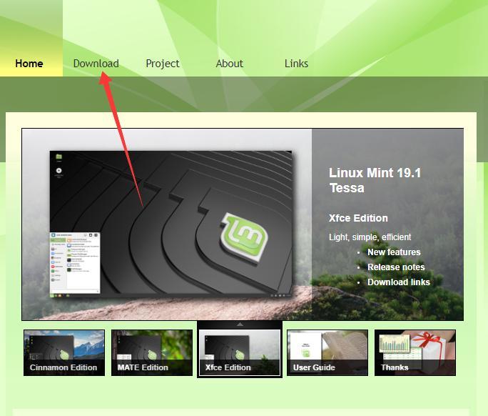 Descargar imagen ISO de Linux Mint
